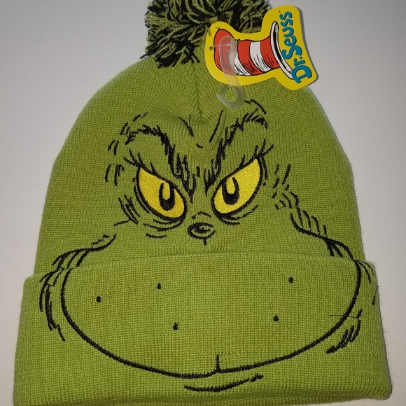 The grinch Dr Seuss knit hat beanie f72159b969e
